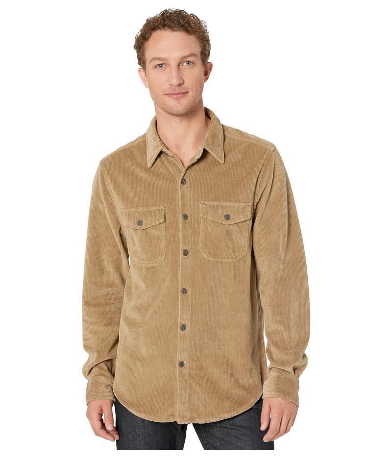 トゥルーグリット メンズ シャツ トップス Best Stretch Cord Long Sleeve Two-Pocket Shirt Khaki