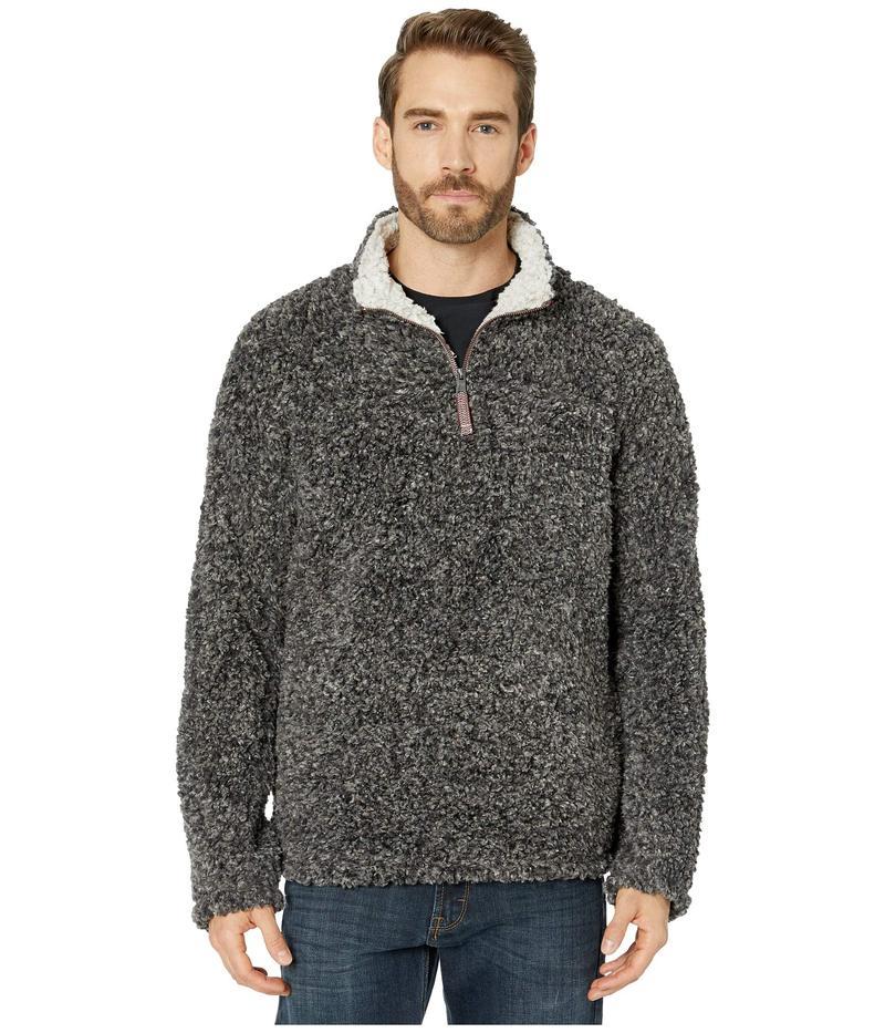 トゥルーグリット メンズ ニット・セーター アウター Texture Sherpa 1/4 Zip Pullover Charcoal