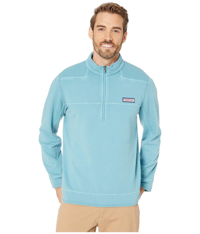 ヴァインヤードヴァインズ メンズ パーカー・スウェット アウター Woodhouse Garment-Dyed Shep Shirt Teal Ocean