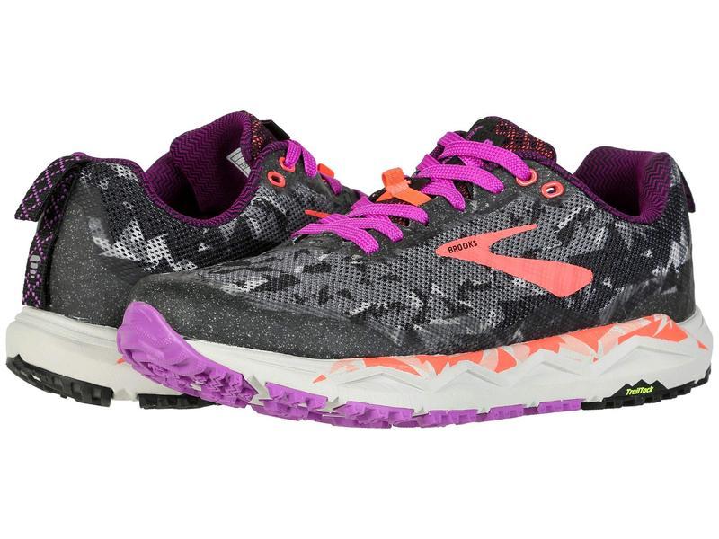 ブルックス レディース スニーカー シューズ Caldera 3 Black/Purple/Coral
