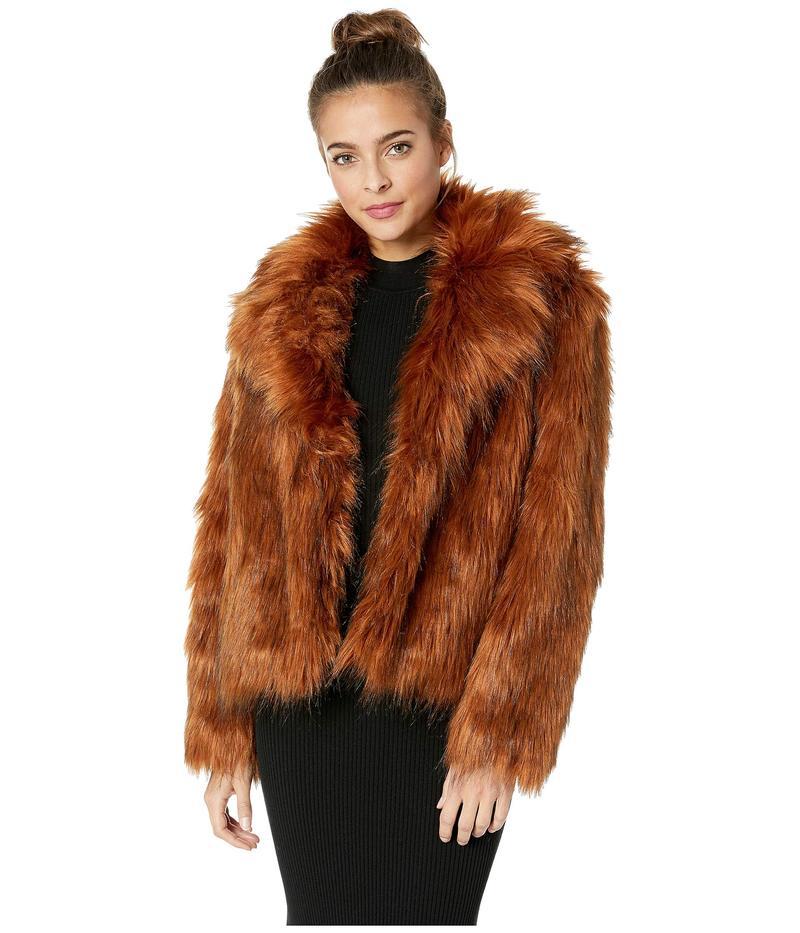 ビービーダコタ レディース コート アウター Penny Lane Lux Faux Fur Jacket Cognac