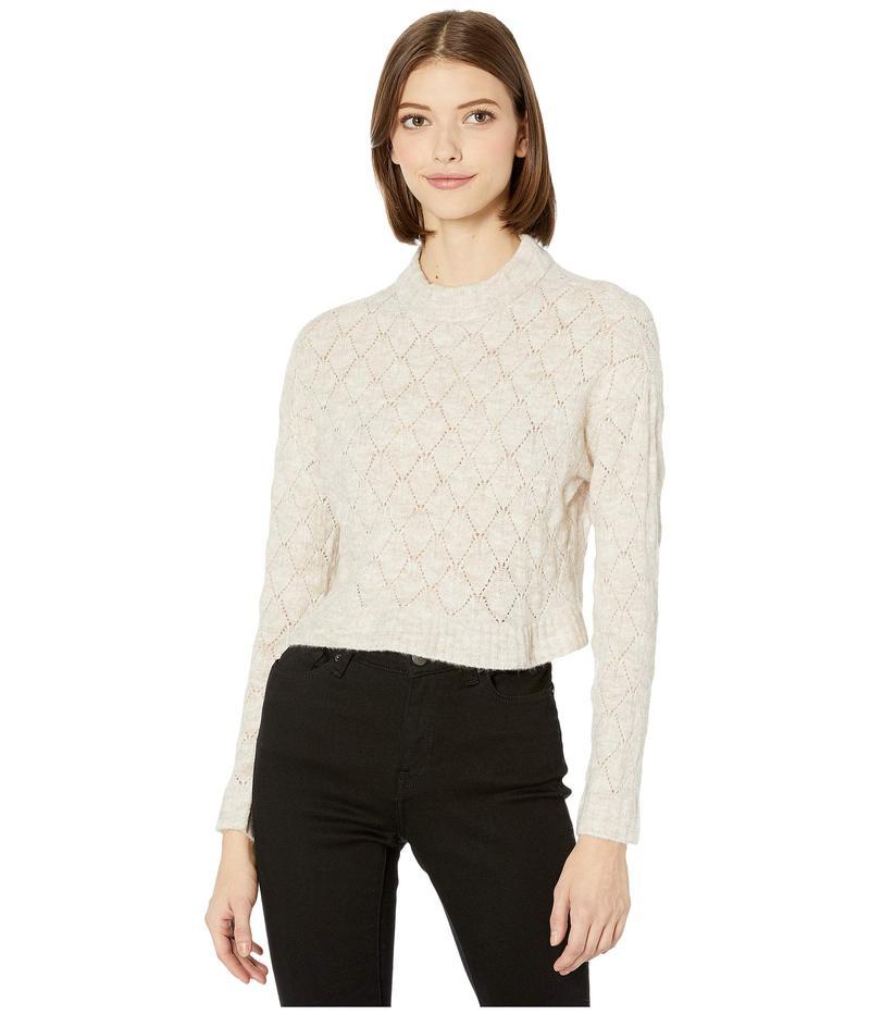BCBジェネレーション レディース ニット・セーター アウター Mock Neck Sweater TFA5254181 Heather Oatmeal