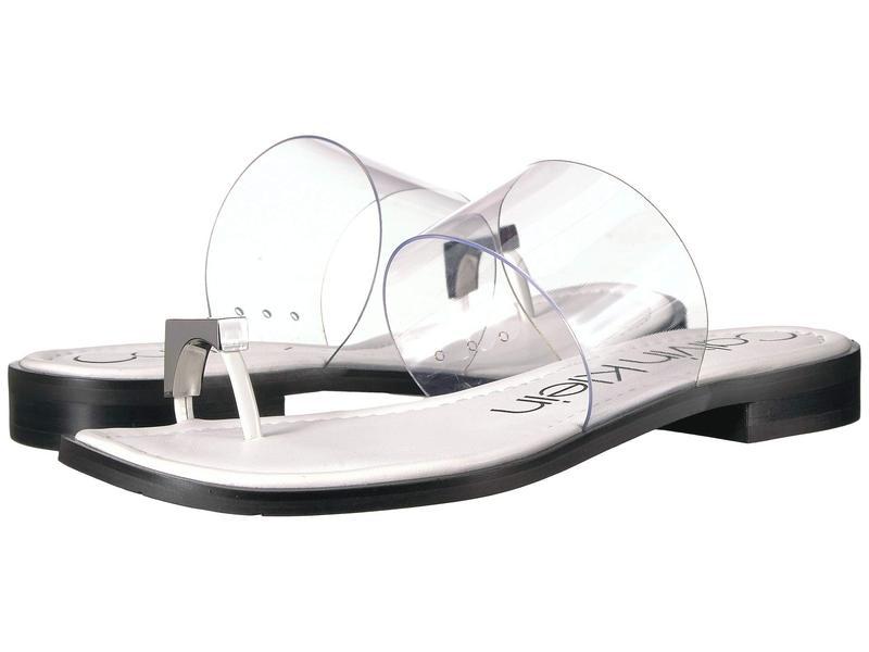 カルバンクライン レディース サンダル シューズ Tamar White Patent/Lucite