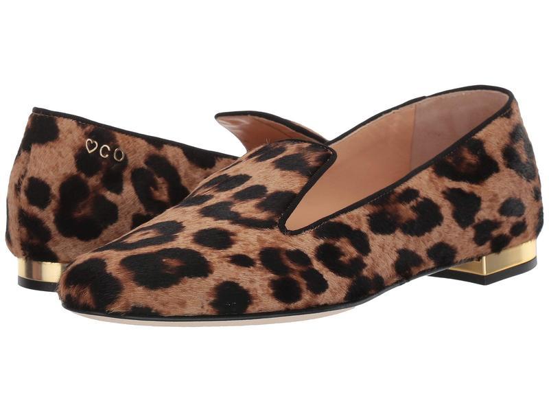シャーロットオリンピア レディース スリッポン・ローファー シューズ Feline D'Orsay Flats Leopard Printed Pony