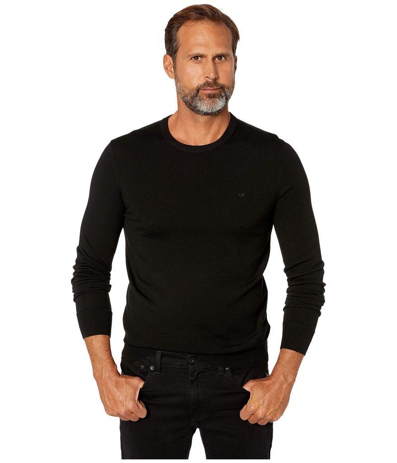 カルバンクライン メンズ ニット・セーター アウター Merino Crew Neck Sweater Black