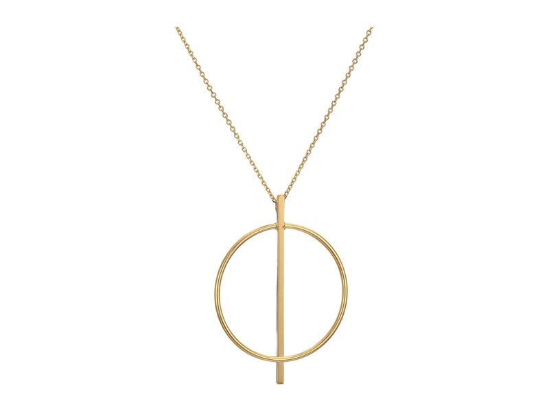 ディーバークレイ レディース ネックレス・チョーカー・ペンダントトップ アクセサリー 14KT Solid Gold Geometric Necklace Gold