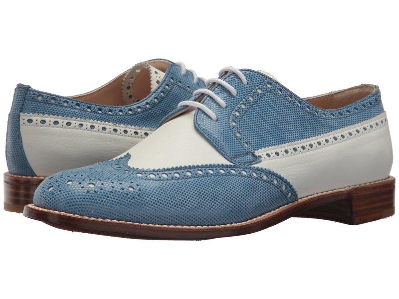 グラベティ レディース オックスフォード シューズ Calf Leather Wing Tip White/Blue