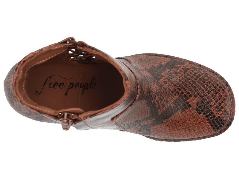 フリーピープル レディース ブーツ・レインブーツ シューズ Marietta Snake Print Heel Boot BrouK1cT5lFJ3