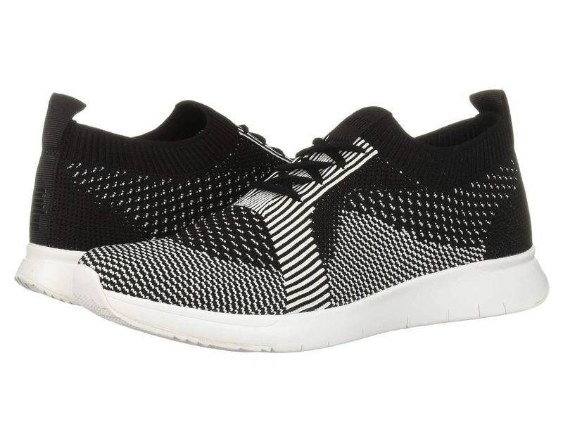 フィットフロップ レディース スニーカー シューズ Marble Knit Slip-On Sneaker Black/White