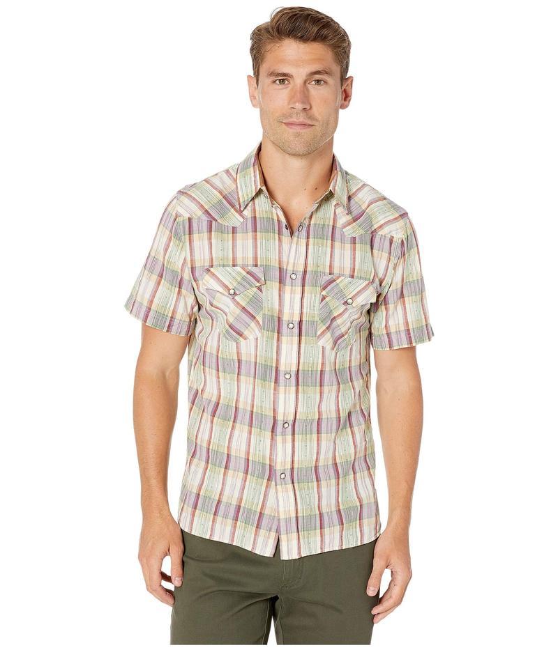 フライ メンズ シャツ トップス Western Short Sleeve Shirt Grayson Plaid