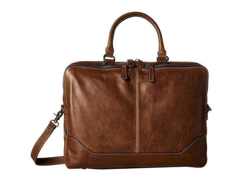フライ メンズ ビジネス系 バッグ Logan Work Bag Dark Brown Antique Pull Up