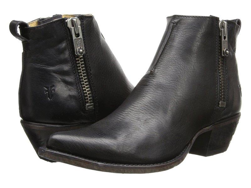 フライ レディース ブーツ・レインブーツ シューズ Sacha Moto Shortie Black Smooth Vintage Leather