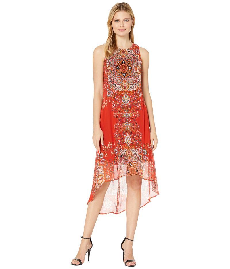 カレンケーン レディース ワンピース トップス High-Low Hem Dress Print