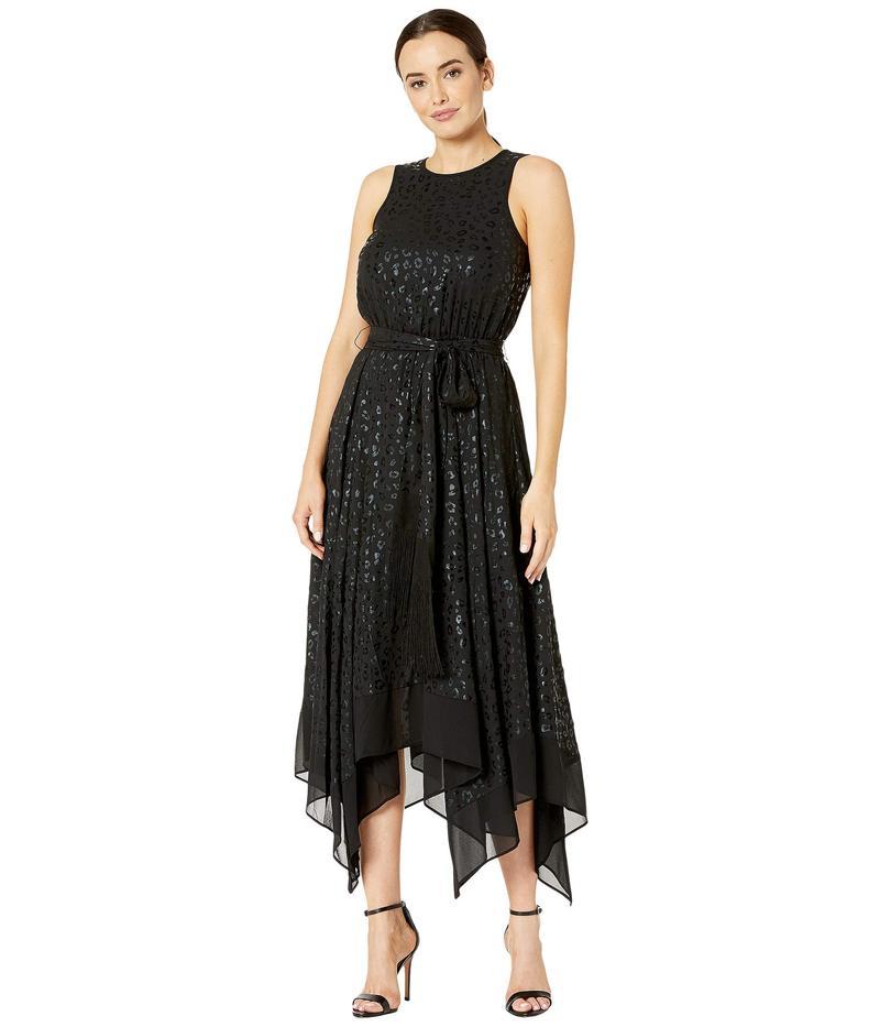 マイケルコース レディース ワンピース トップス Handkerchief Hem Dress Black