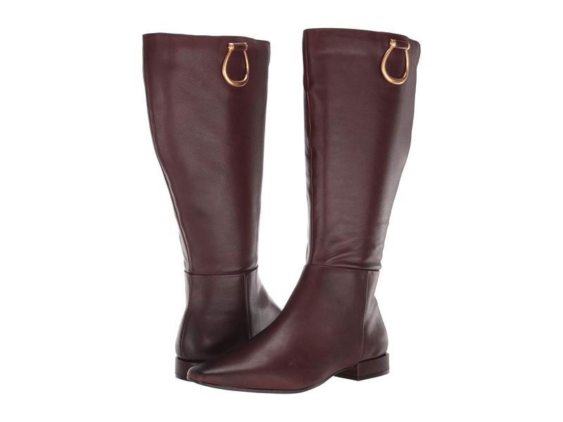 ナチュライザー レディース ブーツ・レインブーツ シューズ Carella Wide Shaft Chocolate Leather