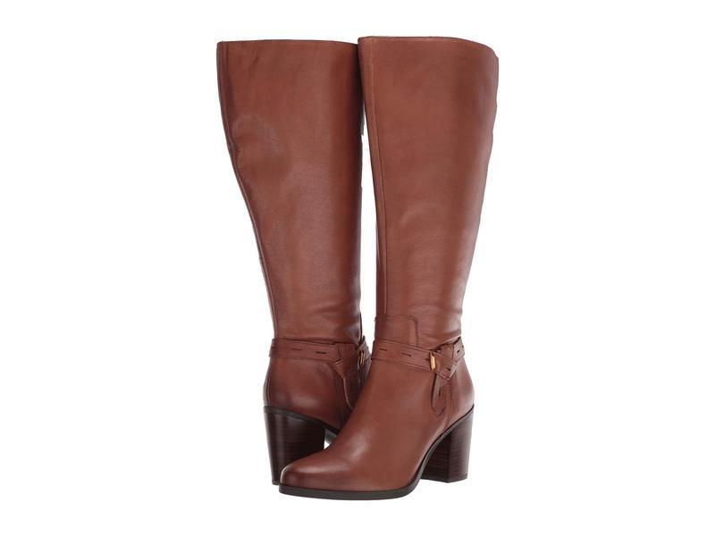 ナチュライザー レディース ブーツ・レインブーツ シューズ Kamora Wide Calf Saddle Tan Leather WC