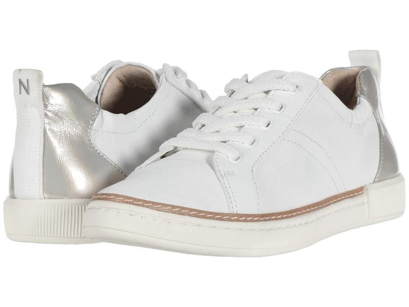 ナチュライザー レディース スニーカー シューズ Zoey Metallic White Synthetic Tumbled Leather