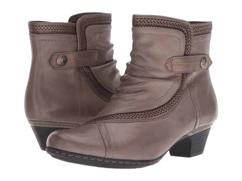 コブ ヒル レディース ブーツ・レインブーツ シューズ Cobb Hill Abbott Panel Boot Grey Leather