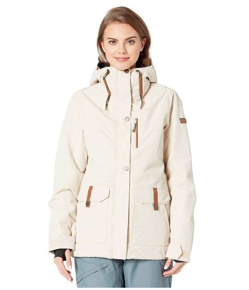 ロキシー レディース コート アウター Andie Snow Jacket Oyster Gray