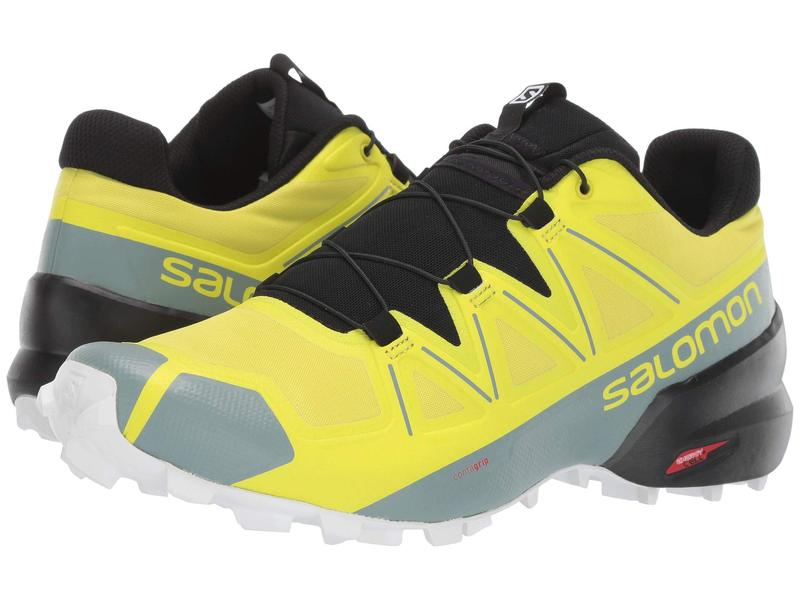 サロモン メンズ スニーカー シューズ Speedcross 5 Sulphur Spring/Black/White