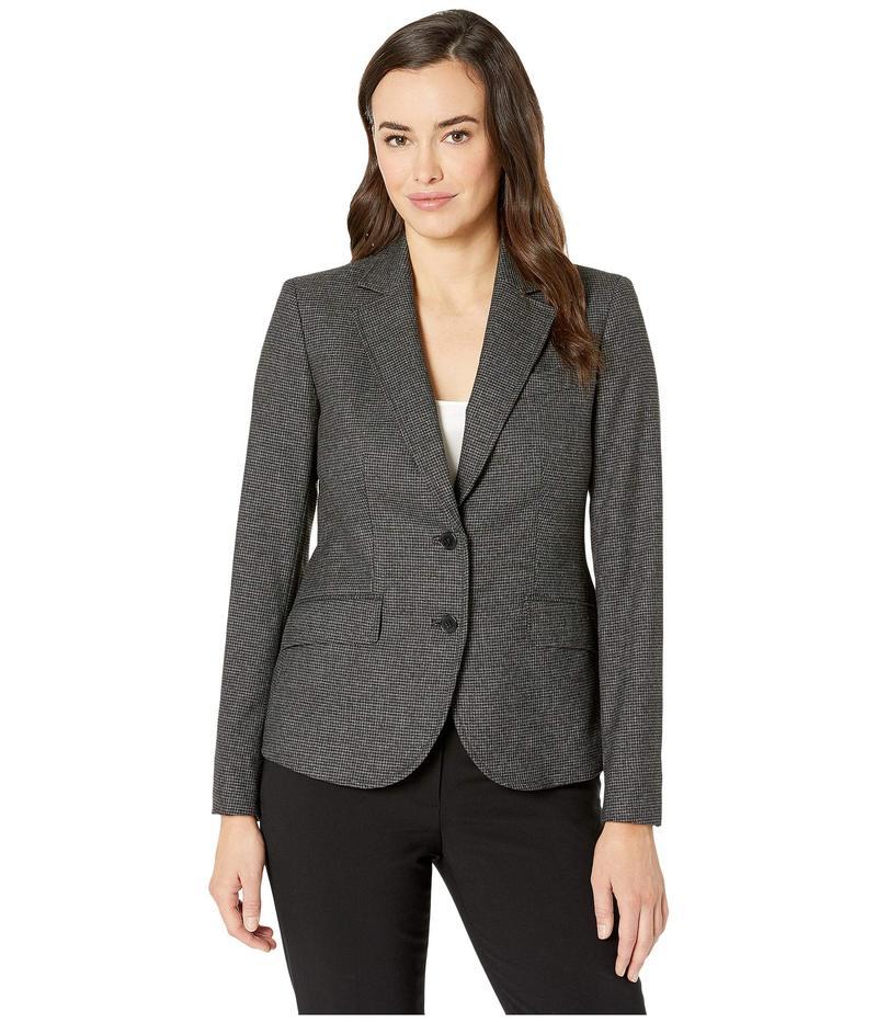 アンクライン レディース コート アウター Two-Button Jacket Anne Black/Grey