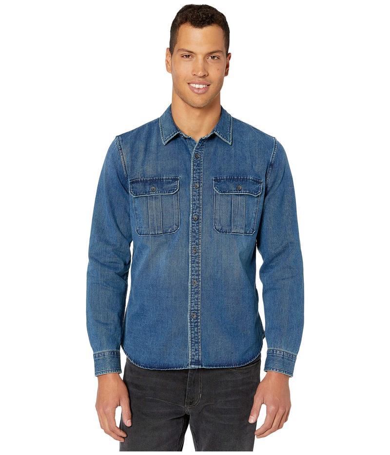 セブンフォーオールマンカインド メンズ シャツ トップス Long Sleeve Double Patch Pocket Shirt Dark Authentic