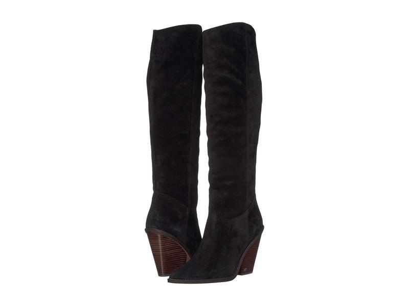 サムエデルマン レディース ブーツ・レインブーツ シューズ Indigo Black Velutto Suede Leather
