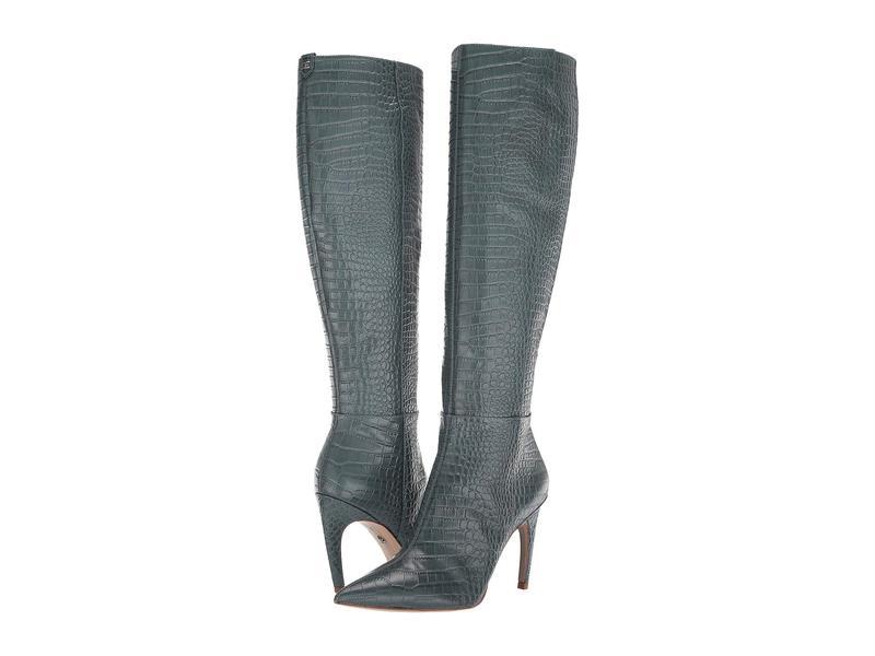 サムエデルマン レディース ブーツ・レインブーツ シューズ Fraya 2 Grey Iris Kenya Croco Embossed Leather