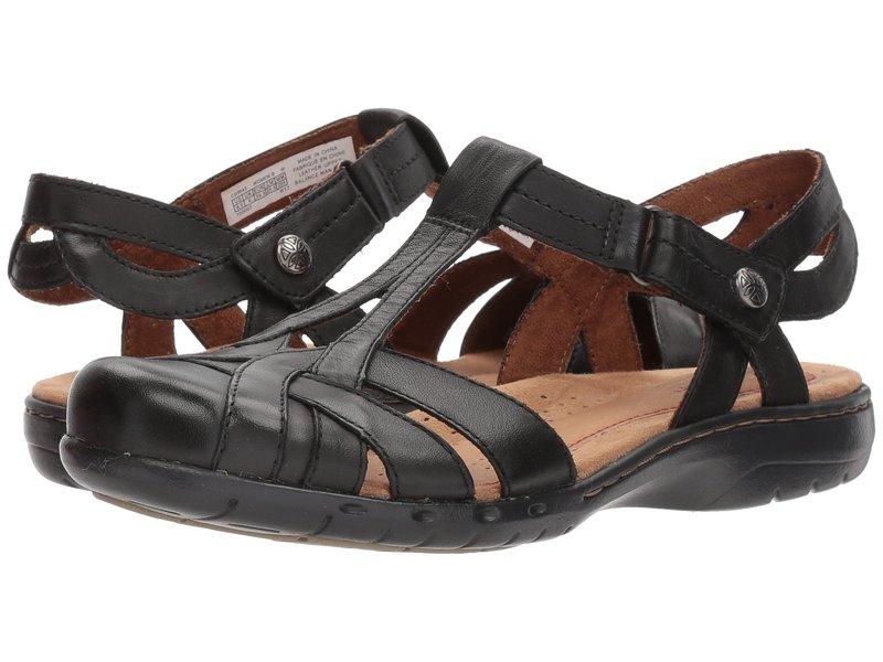 ロックポート レディース サンダル シューズ Cobb Hill Penfield T Sandal Black Leather