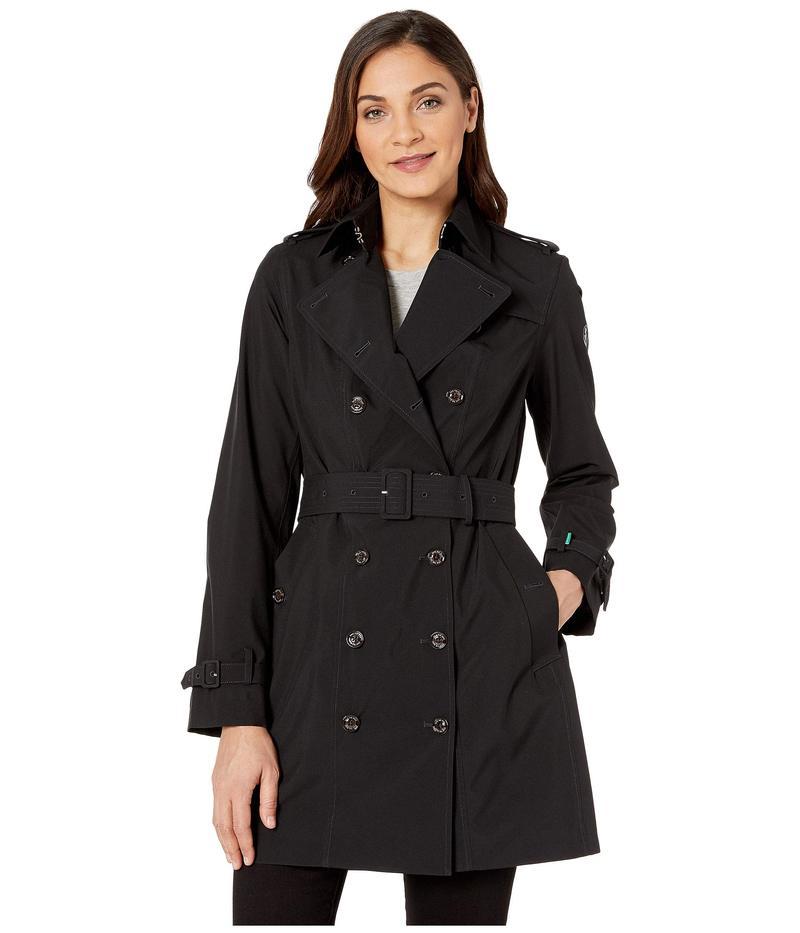 セイブ ザ ダック レディース コート アウター Grin Double Breasted Rain Coat Black