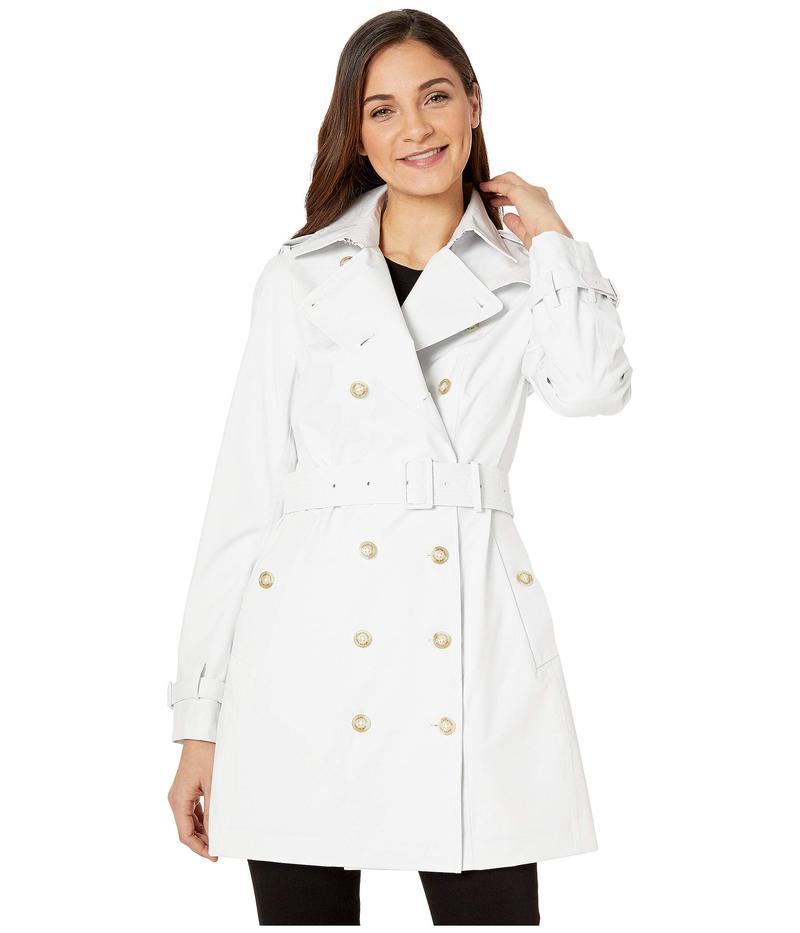 セイブ ザ ダック レディース コート アウター Grin Double Breasted Rain Coat White