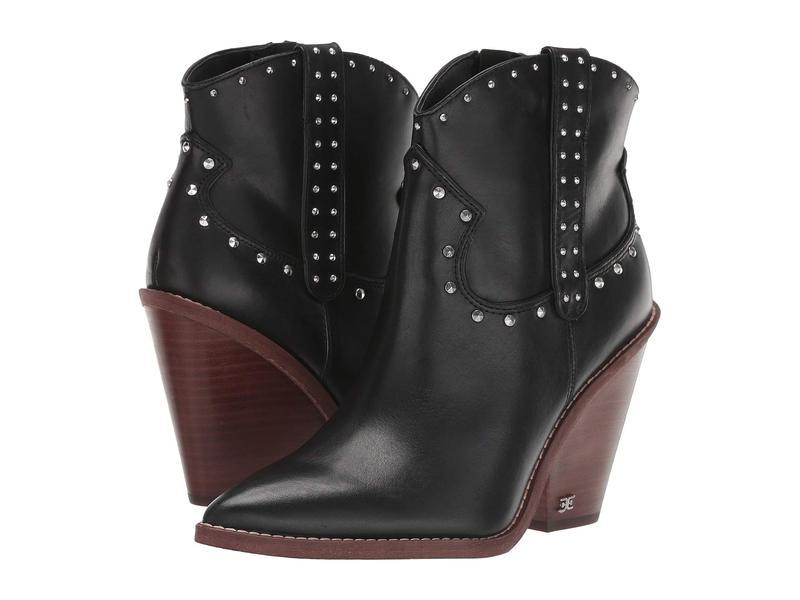 サムエデルマン レディース ブーツ・レインブーツ シューズ Iris Black Vaquero Saddle Leather