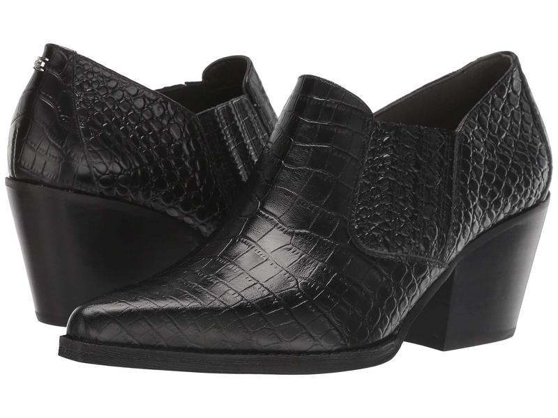 サムエデルマン レディース ヒール シューズ Walton Black Kenya Croco Embossed Leather