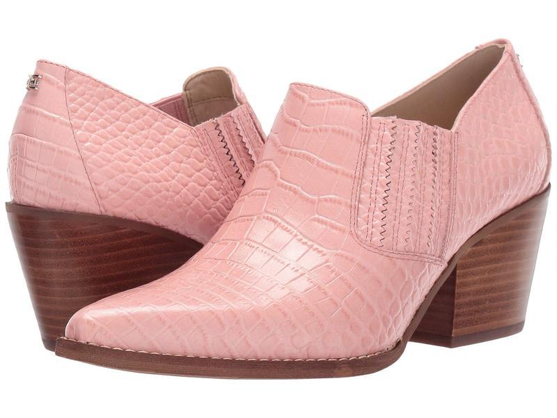 サムエデルマン レディース ヒール シューズ Walton Canyon Pink Kenya Croco Embossed Leather