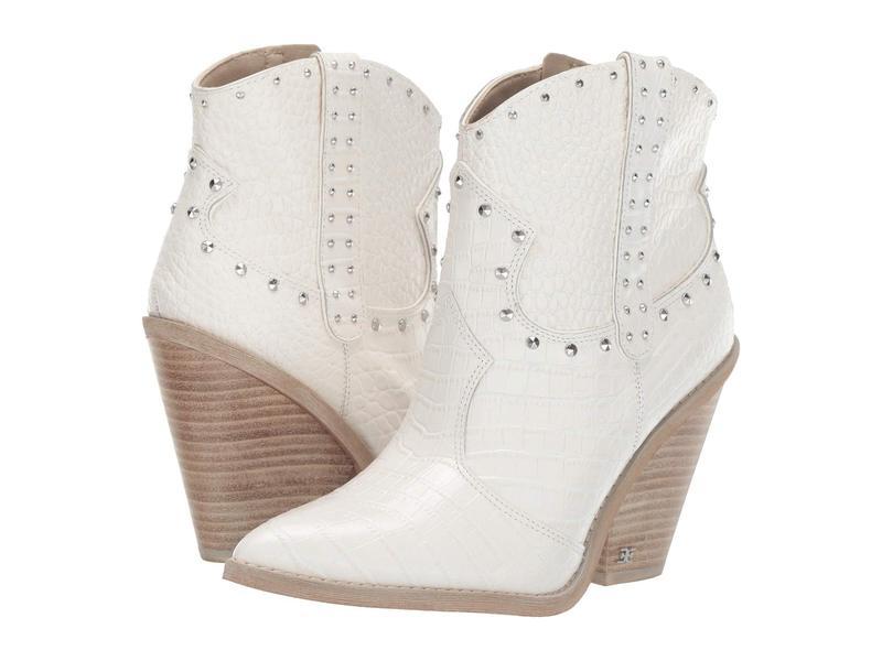 サムエデルマン レディース ブーツ・レインブーツ シューズ Iris 2 Bright White Kenya Croco Embossed Leather