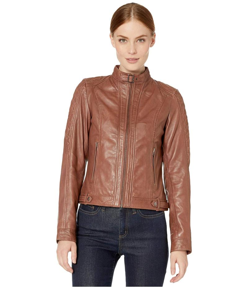 スカーリー レディース コート アウター Classic Leather Jacket Tan