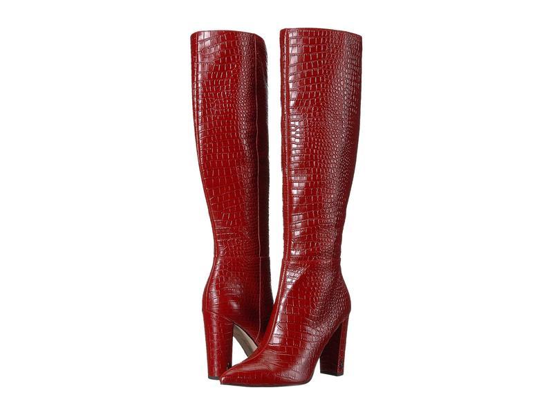サムエデルマン レディース ブーツ・レインブーツ シューズ Raakel 2 Spiced Mahogany Kenya Croco Embossed Leather