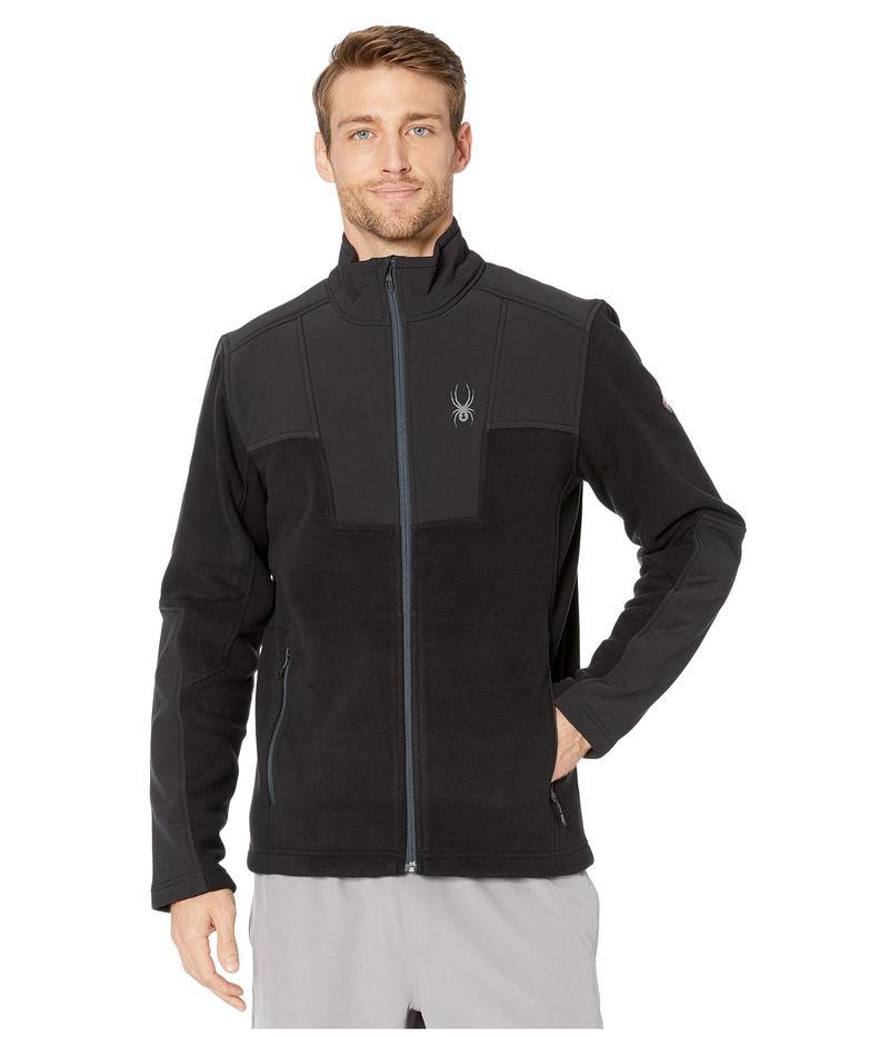 スパイダー メンズ コート アウター Basin Full Zip Fleece Jacket Black