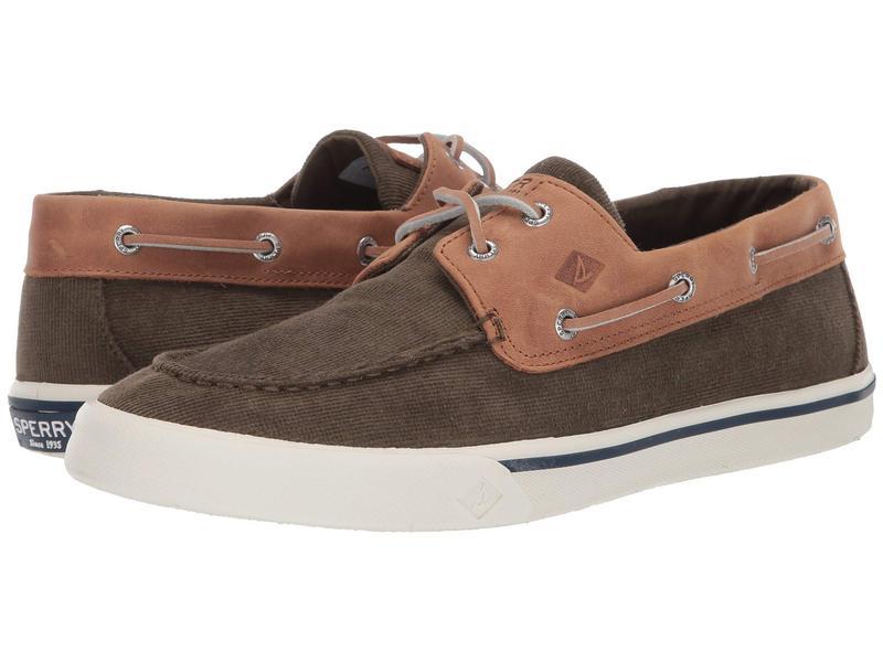 スペリー メンズ スニーカー シューズ Bahama II Corduroy Sneaker Olive
