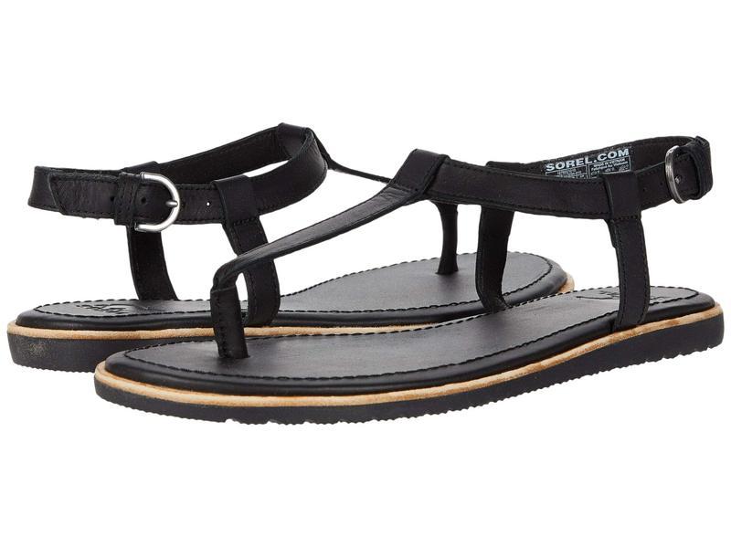 ソレル レディース サンダル シューズ Bailee¢ T-Strap Sandal Black