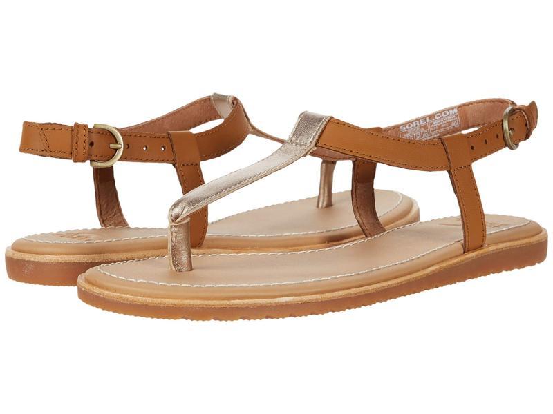 ソレル レディース サンダル シューズ Bailee¢ T-Strap Sandal Camel Brown