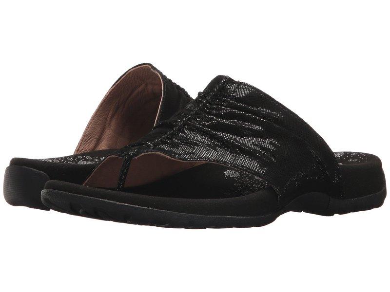 タオスフットウェア レディース サンダル シューズ Gift 2 Black Printed Leather