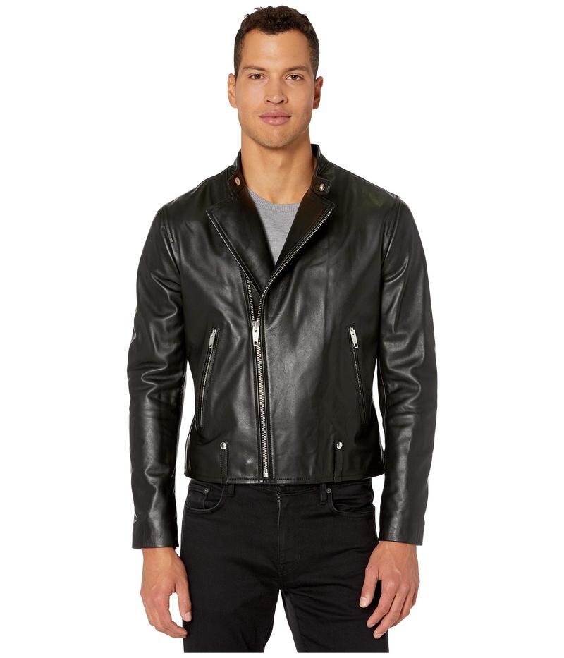 ザ・クープルス メンズ コート アウター Leather Biker Jacket with Metal Details Black