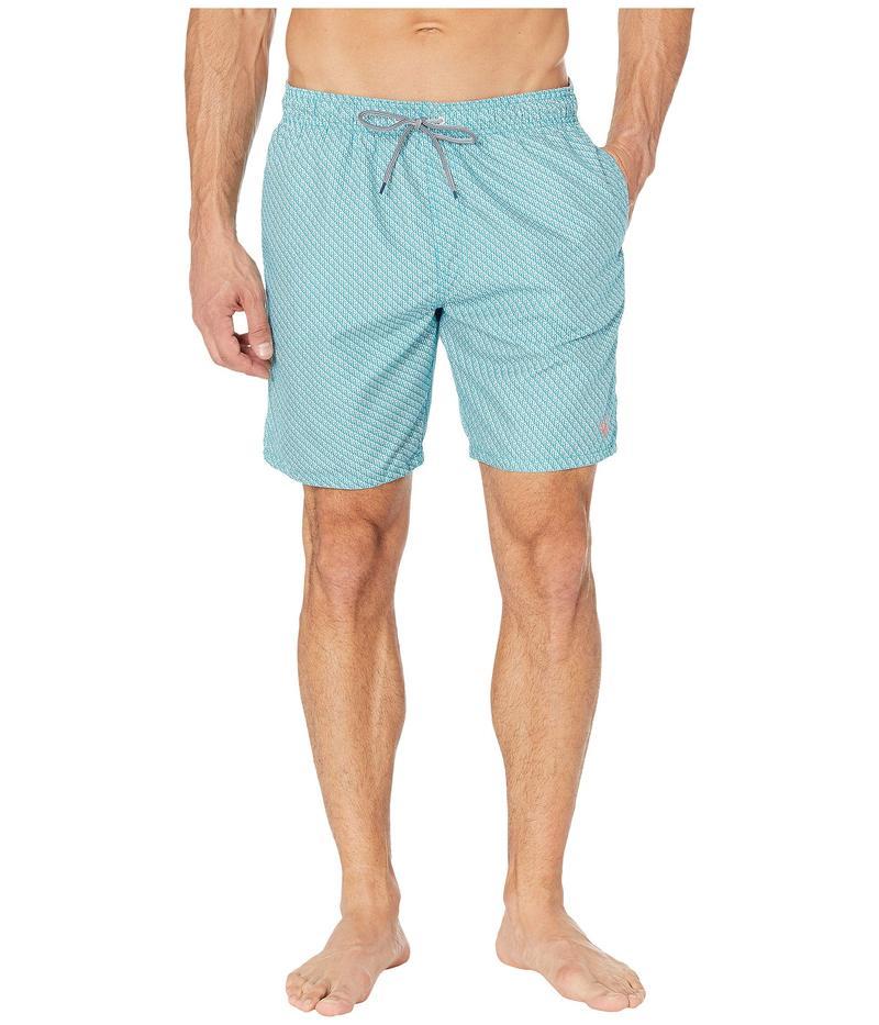 テッドベーカー メンズ ハーフパンツ・ショーツ 水着 Flags Mini Geo Branded Swim Shorts Teal/Blue