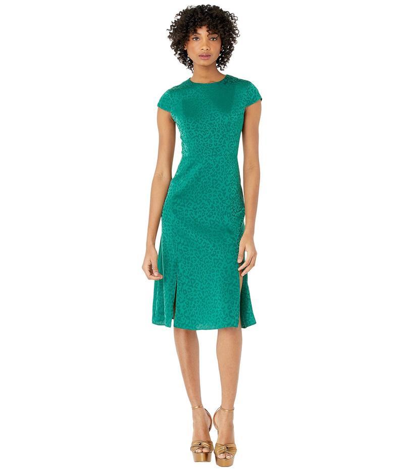 テッドベーカー レディース ワンピース トップス Bellana Short Sleeve Jacquard Midi Dress Green