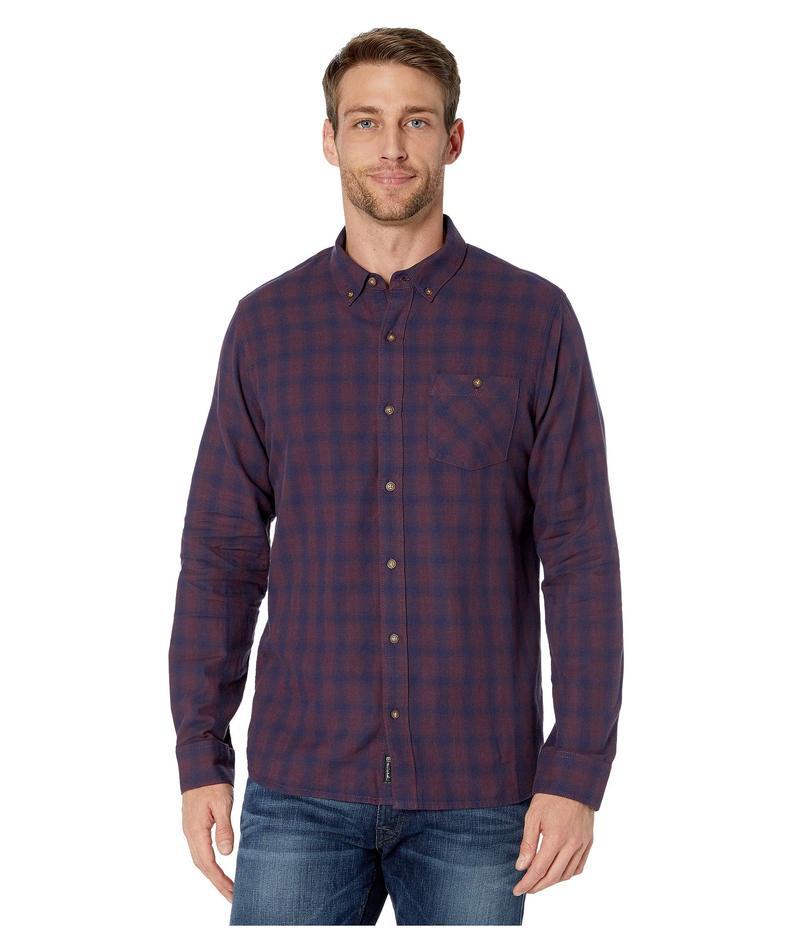 トラビスマヒュー メンズ シャツ トップス Tightrope Button Up Shirt Mood Indigo