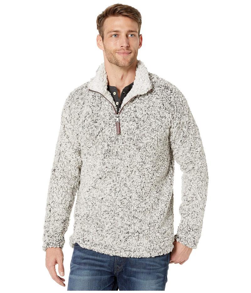 トゥルーグリット メンズ ニット・セーター アウター Frosty Tipped Pile 1/4 Zip Pullover Charcoal