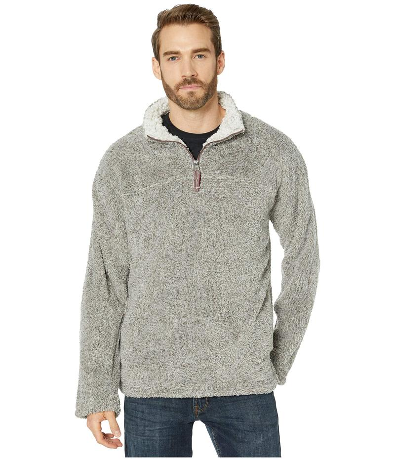 トゥルーグリット メンズ ニット・セーター アウター Melange Shag Sherpa Ultra Soft Coziest 1/4 Zip Pullover Charcoal