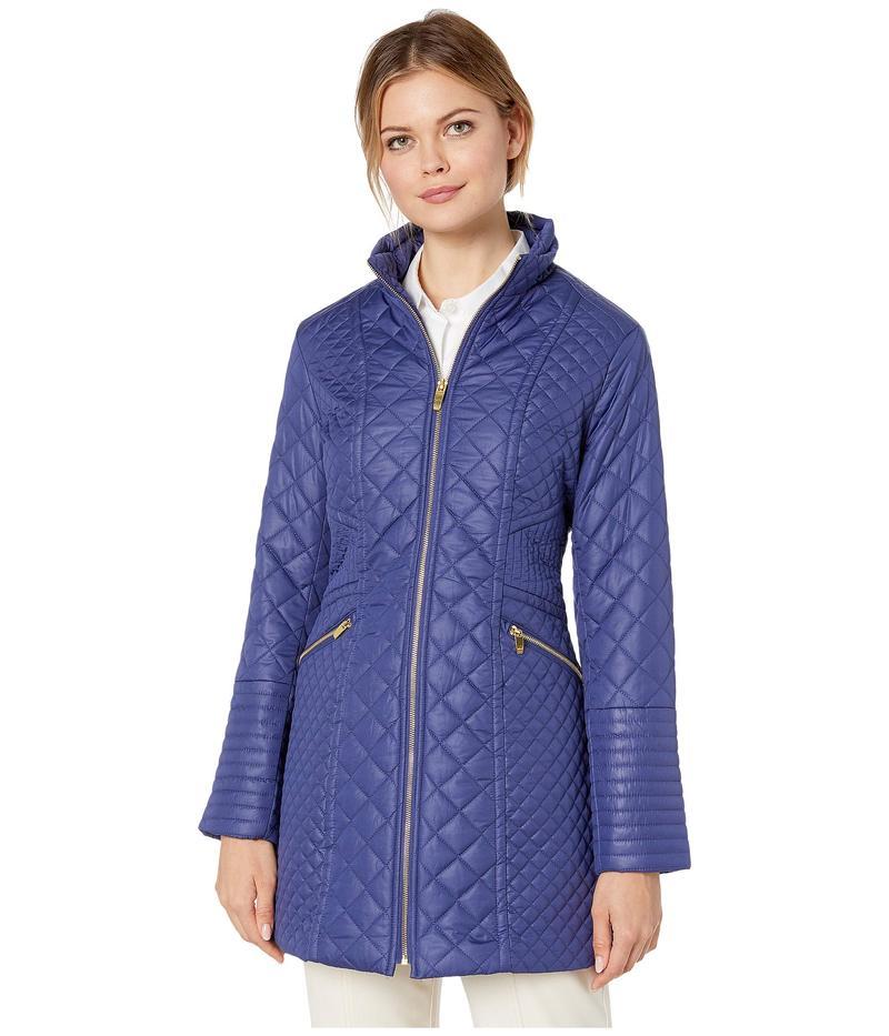 ヴィアスピガ レディース コート アウター Stand Collar Stitch Quilt Postiano Blue