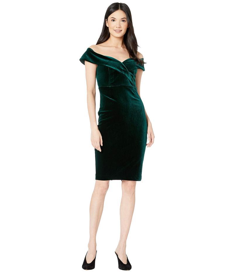 バードット レディース ワンピース トップス Bella Velvet Dress Dark Green